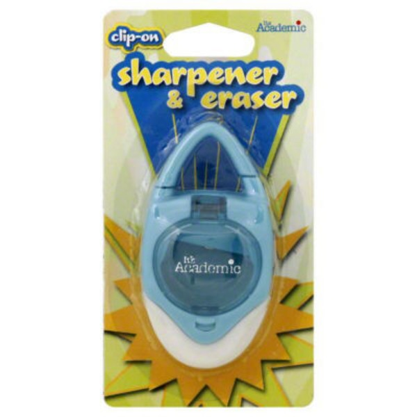 It's Academic Sharpener & Eraser, Clip-On
