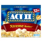 ACT II Xtreme Butter Microwave Popcorn, Classic Bag, 12 Ct