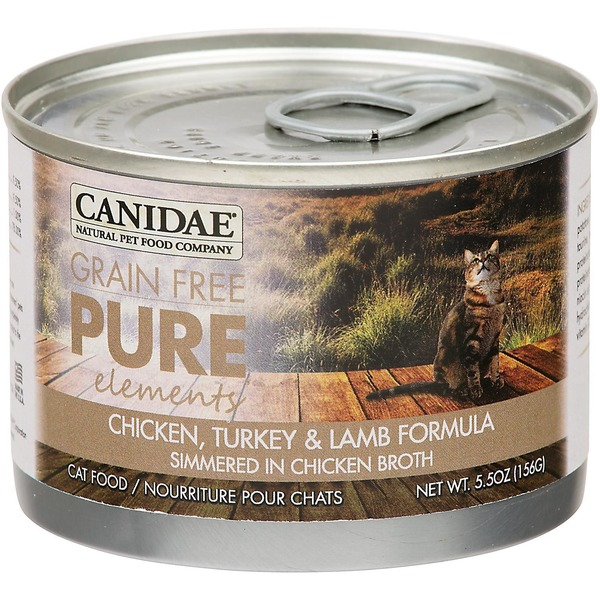 Canidae Grain Free Pure Elements Chicken Turkey & Lamb Canned Cat Food 5.5 Oz.