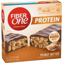 Fiber One Protein Peanut Butter Chewy Bars, 5.85 oz, 1.17 OZ