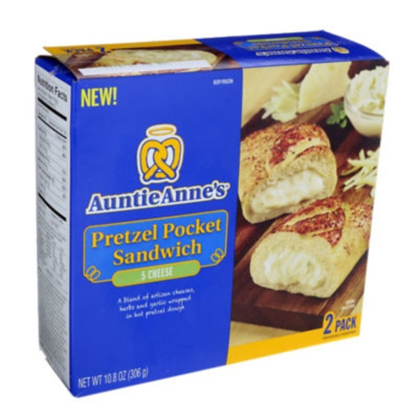 Auntie Anne's Five Cheese Pretzel Sandwich
