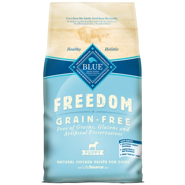 Blue Buffalo Dog Food, Freedom, Dry, Chicken Recipe, Puppy, Bag