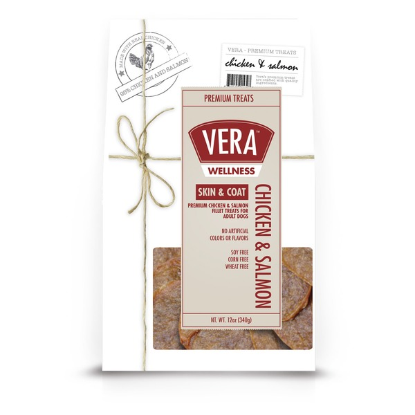 Vera Wellness Chicken and Salmon Skin and Coat Dog Treats