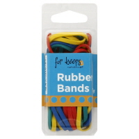 Assorted Color Rubber Bands- 75 Pcs In A Pack