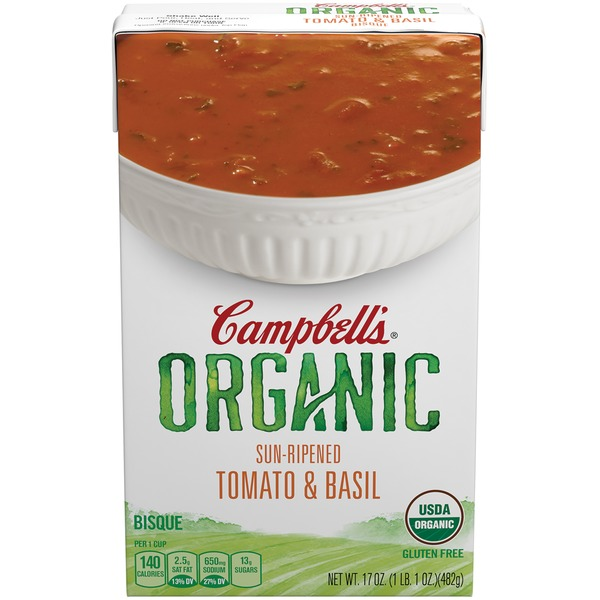 Campbell's Organic Sun-Ripened Tomato & Basil Bisque Soup