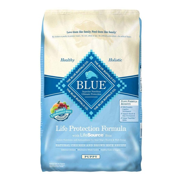 Blue Buffalo Dog Food, Dry, Chicken & Brown Rice, Puppy, Bag