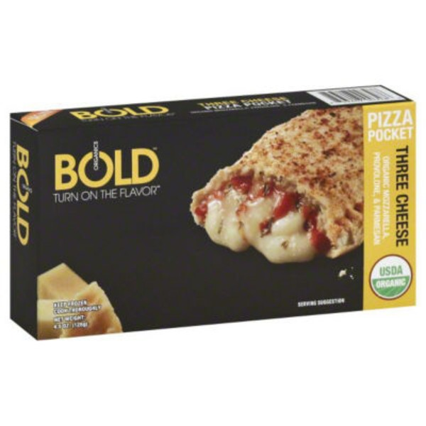 Bold Organics Three Cheese Pizza Pocket