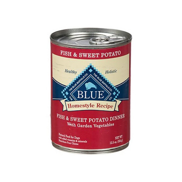 Blue Buffalo Homestyle Recipe Fish & Sweet Potato Dinner Canned Dog Food