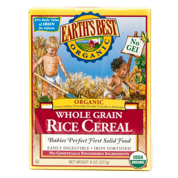 Earth's Best Organic Baby First Solid Food Whole Grain Brown Rice Cereal