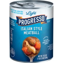 Progresso Light Italian Style Meatball Soup, 18.5 oz, 18.5 OZ