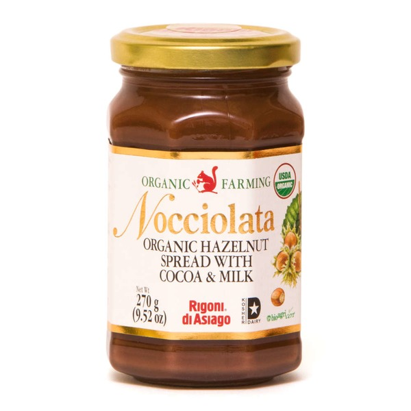 Nocciolata Organic Hazelnut Spread with Cocoa & Milk
