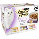 Purina Fancy Feast Sliced Poultry & Beef Collection Cat Food 24-3 oz. Cans