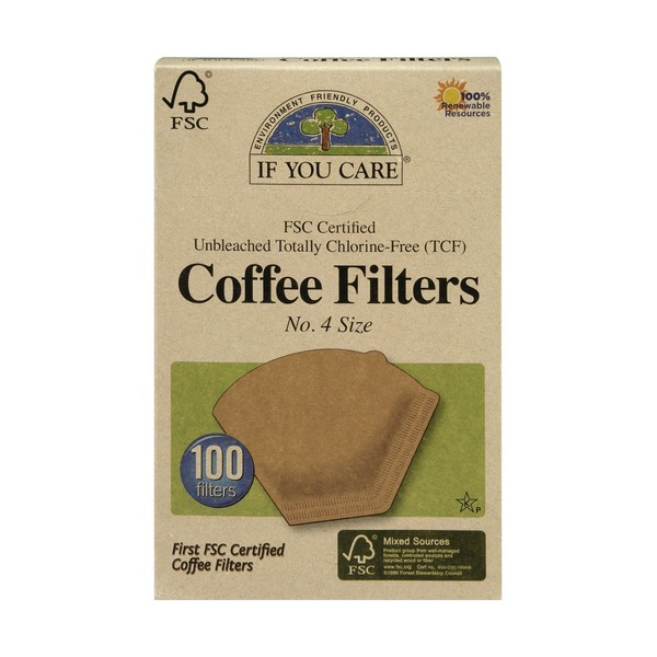 If You Care FSC Certified Unbleached Totally Chlorine-Free No. 4 Size Coffee Filters