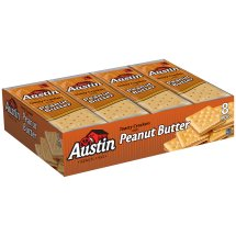 Austin Toasty Crackers with Peanut Butter Cracker Sandwiches, 1.38 oz, 8 count