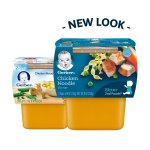 Gerber 2nd Foods Nutritious Dinners Chicken Noodle Baby Food, 4 oz Tubs, 2 Count