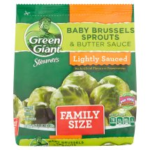 Green Giant Steamers Lightly Sauced Baby Brussels Sprouts & Butter Sauce Family Size, 19 oz
