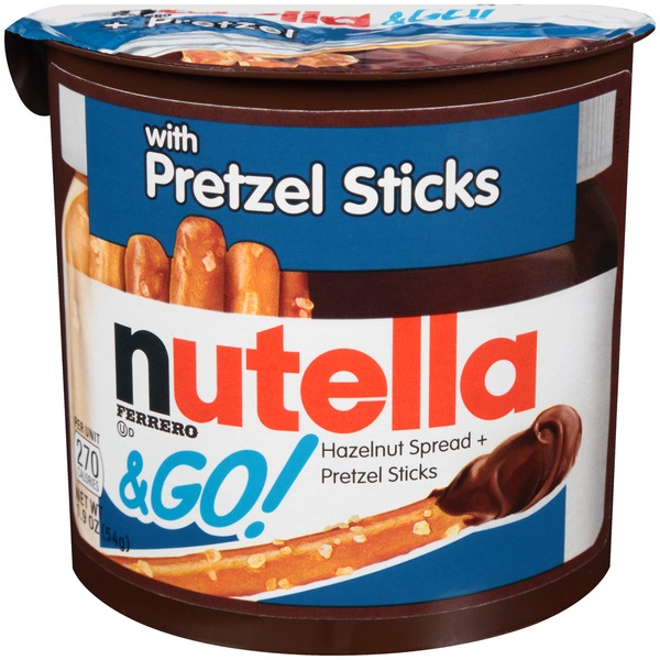 Nutella & Go! Hazelnut Spread + Pretzel Sticks