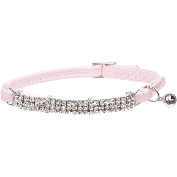 Petco Nylon Adjustable Fancy Super Bling Cat Stretch Collar In Pink
