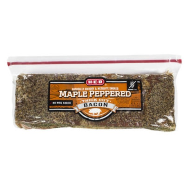 H-E-B Maple Peppered Stack Bacon