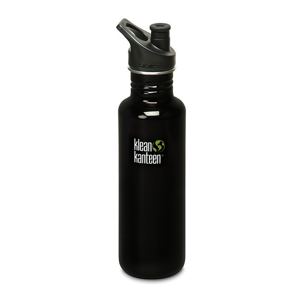 Klean Kanteen Black Classic 27-Ounce Water Bottle With Sport Cap