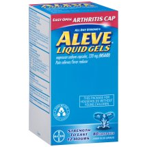 Aleve Easy Open Arthritis Cap Liquid Gels with Naproxen Sodium, 220mg (NSAID) Pain Reliever/Fever Reducer, 80 Count