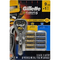 Gillette Fusion 5 Proshield With Power Handle & 9 Carts