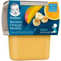 Gerber 2nd Foods Banana Orange Medley, 4 Ounce Tubs, 2 Count