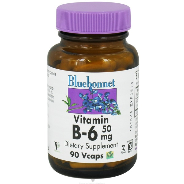 Bluebonnet Vitamin B6 50 Mg Vegetarian Capsules