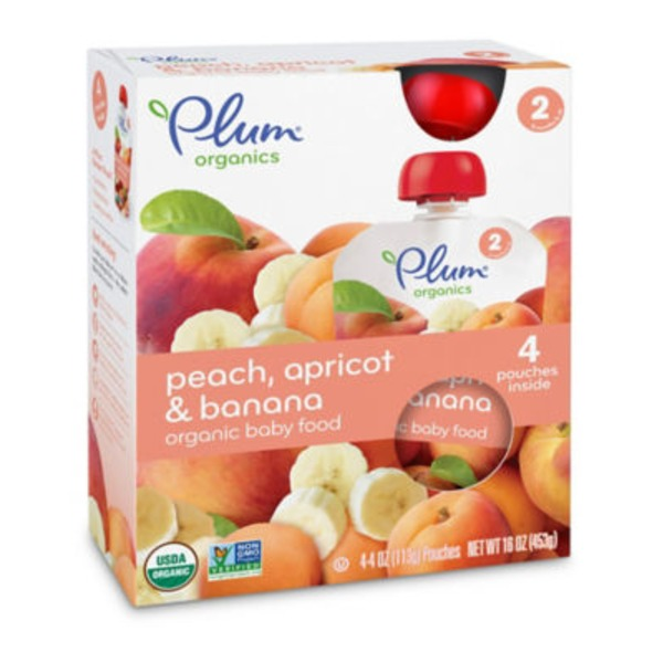 Plum Baby Peach Apricot & Banana Stage 2 Baby Food