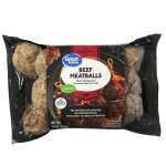 Great Value Beef Meatballs With Parmesan Cheese & Garlic, 12 oz