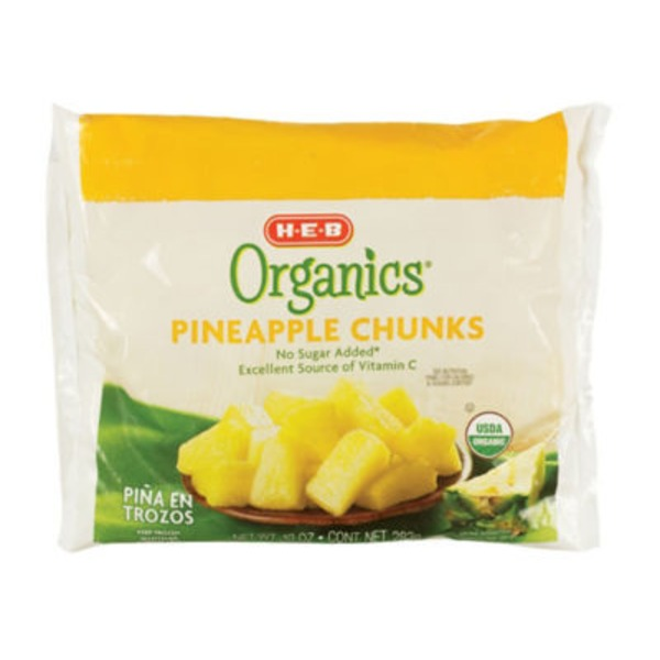H-E-B Organics. Frozen Pineapple Chunks