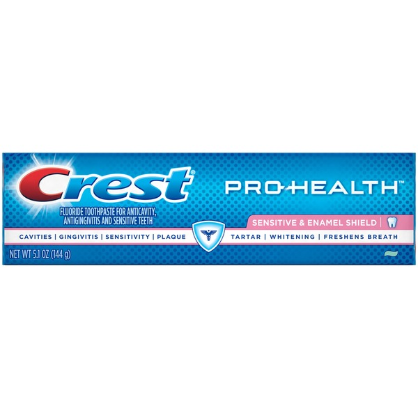 Crest Pro-Health Sensitive and Enamel Shield Toothpaste 5.1 oz. Dentifrice