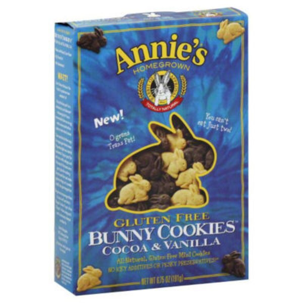 Annie's Homegrown Cocoa & Vanilla Bunny Cookies Gluten Free Bunny Cookies Gluten Free