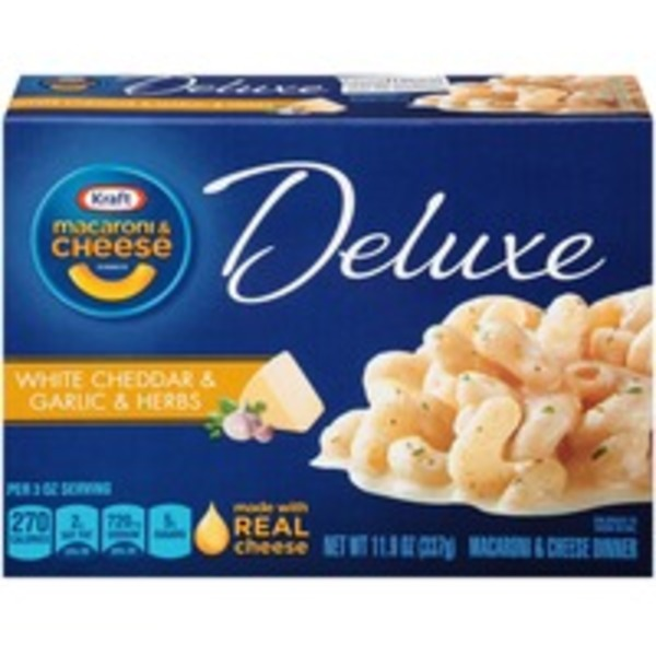 Kraft Dinners Deluxe White Cheddar & Garlic & Herbs Macaroni & Cheese Dinner