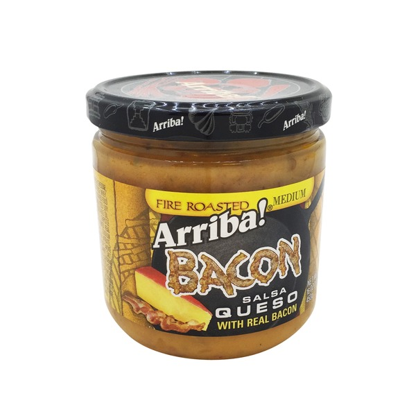 Arriba! Bacon Salsa Queso, Fire Roasted, Medium