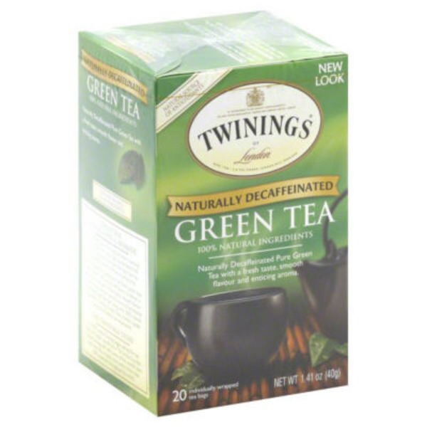 Twinings Green Naturally Decaffeinated Tea Bags