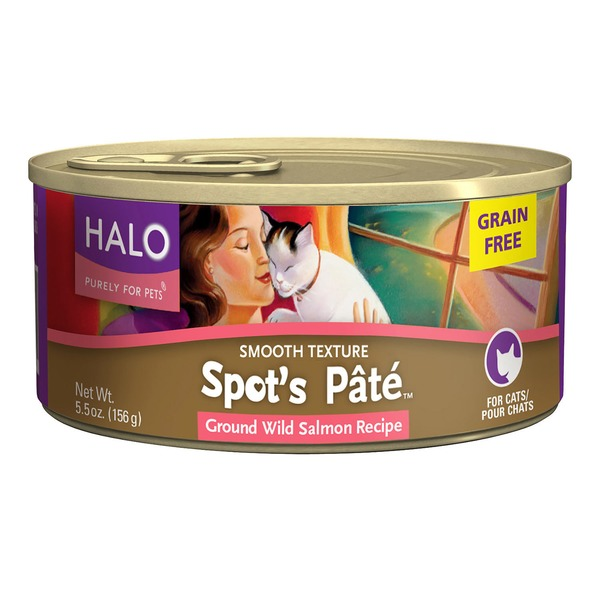 Halo Spots Pate Cat Grain Free Wild Salmon Wet Cat Food