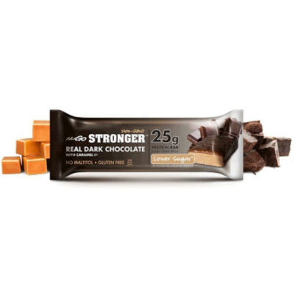 NuGo Protein Bar, Real Dark Chocolate, with Caramel