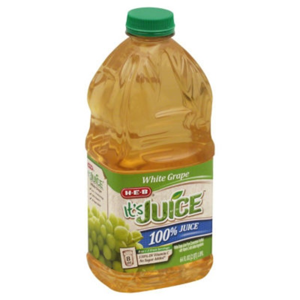 H-E-B It's Juice 100% White Grape Juice