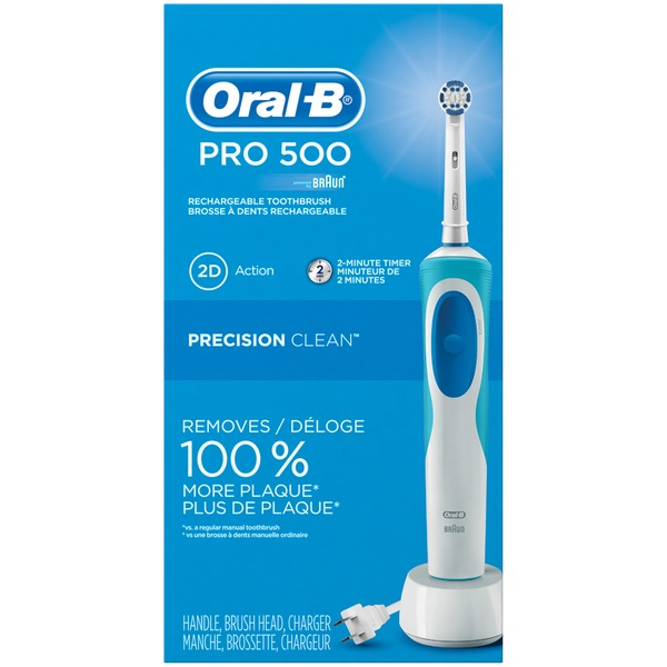 Oral-B PRO Precision Clean Oral-B Pro 500 Power Rechargeable Electric Toothbrush Powered by Braun Power Oral Care