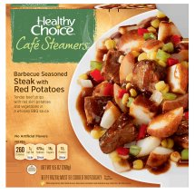 Healthy Choice Cafe Steamers Barbecue Seasoned Steak with Red Potatoes, 9.5 ounces
