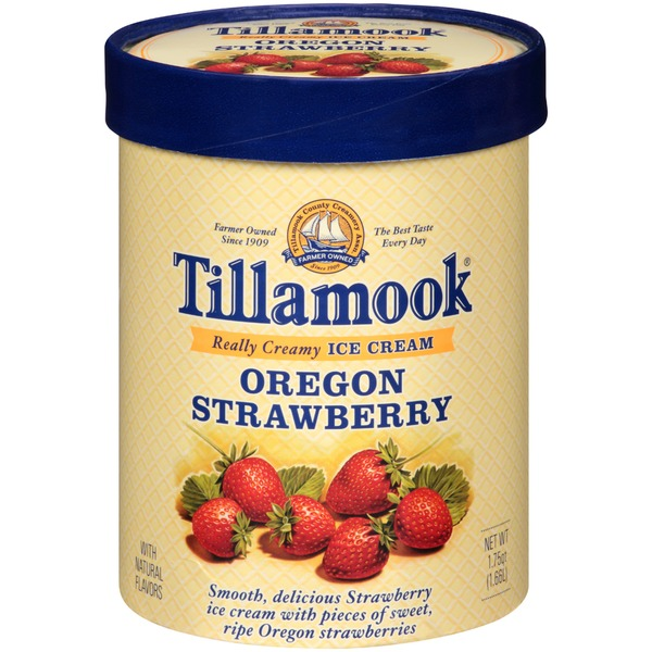 Tillamook Oregon Strawberry Ice Cream