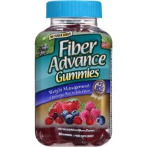 Fiber Advance Mixed Berry Flavors Fiber Supplement Gummies, 90 count