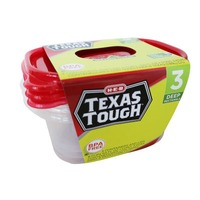 H-E-B Tough & Easy Deep Dish Containers And Lids