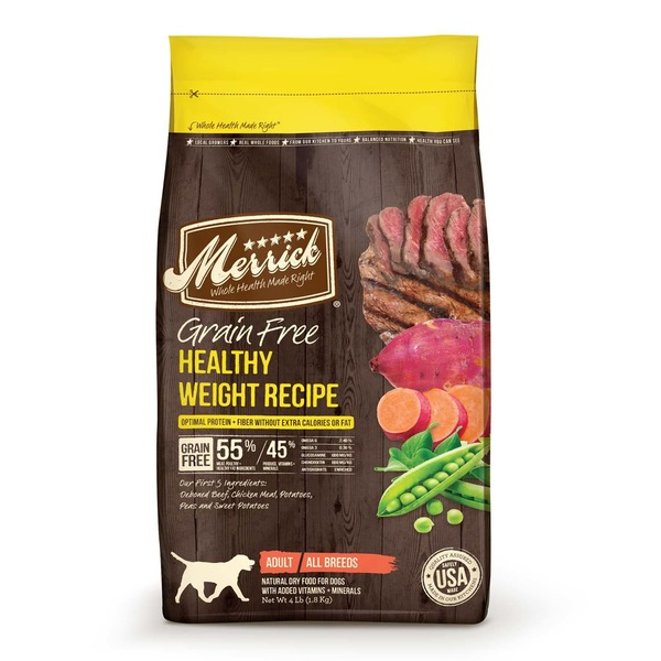 Merrick Grain Free Healthy Weight Recipe Dog Food 4 Lbs.