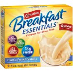 Carnation Breakfast Essentials Drink Mix, Classic French Vanilla, 1.26 Oz, 10 Packets, 1 Count