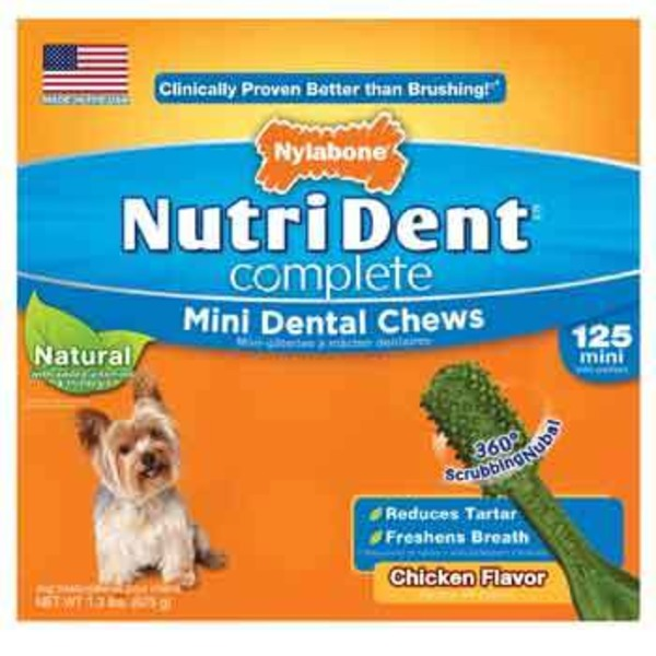 Nylabone Nutri Dent Complete Mini Dental Chews Chicken Flavor for Dogs