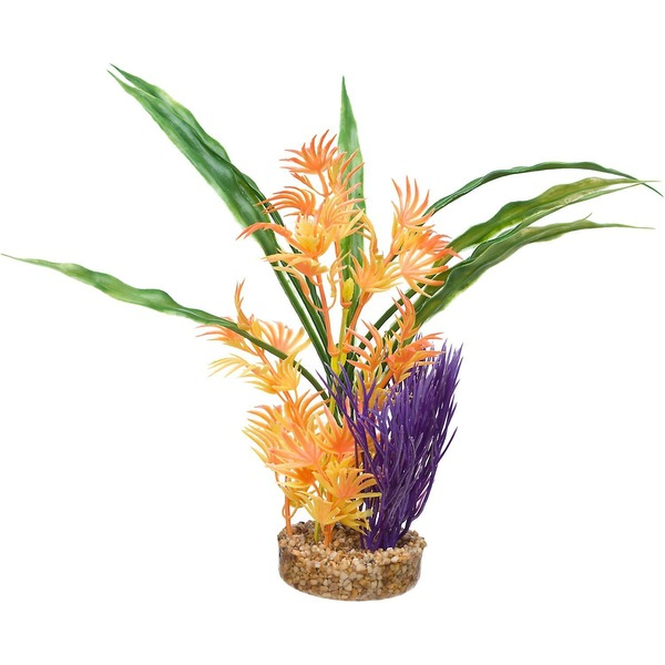 Petco Multi Color Fiesta Hawaiian Tropical Plastic Aquarium Plant