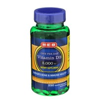 H-E-B Vitamin D3 5000 IU Tablets