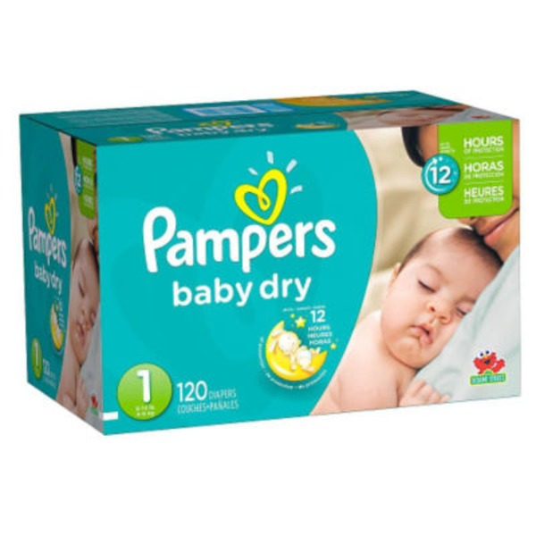 Pampers Baby Dry Pampers Baby Dry Newborn Diapers Size 1 120 Count Diapers